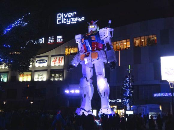 02_ガンダム立像があるダイバーシティ東京でうる星やつら、めぞん一刻、犬夜叉のお酒を発見!