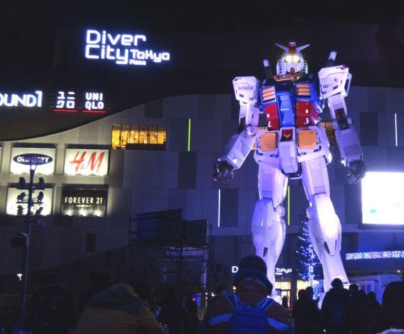 05_ガンダム立像があるダイバーシティ東京でうる星やつら、めぞん一刻、犬夜叉のお酒を発見!