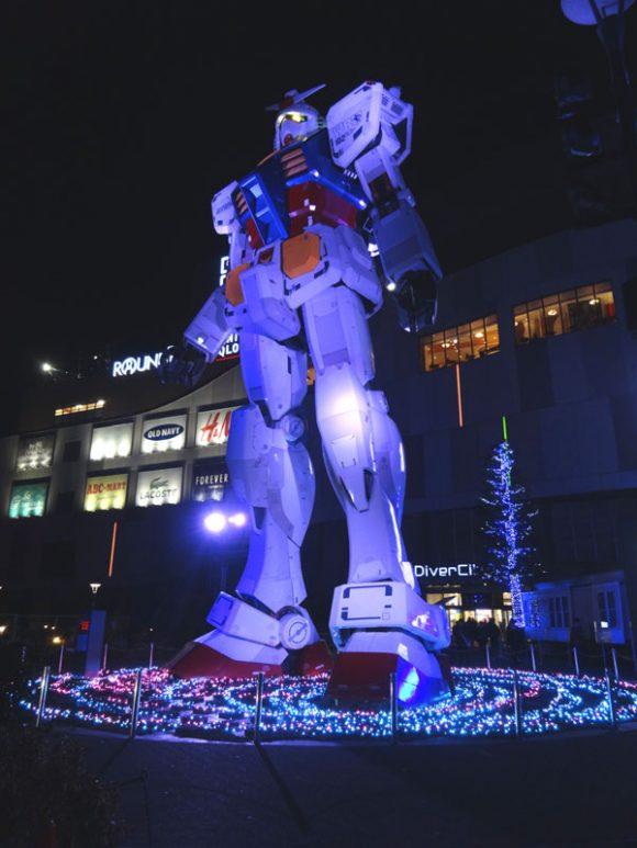 06_ガンダム立像があるダイバーシティ東京でうる星やつら、めぞん一刻、犬夜叉のお酒を発見!