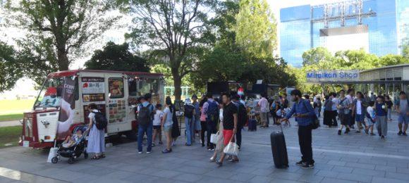 日本科学未来館の駐車場、ランチのレストラン、自動販売機、アクセスの情報まとめ・キッチンカー