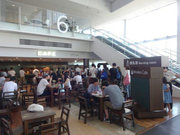 日本科学未来館の駐車場、ランチのレストラン、自動販売機、アクセスの情報まとめ・5階カフェ「Miraikan Cafe」