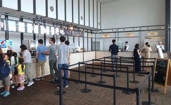 日本科学未来館の駐車場、ランチのレストラン、自動販売機、アクセスの情報まとめ・7階レストラン「Miraikan Kitchen」