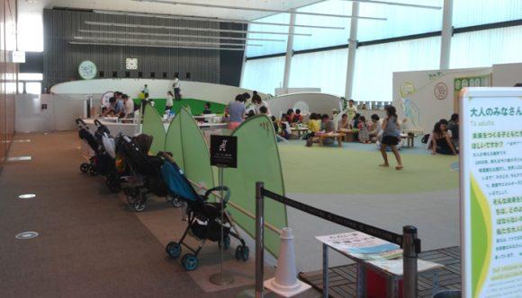 日本科学未来館の駐車場、ランチのレストラン、自動販売機、アクセスの情報まとめ・3階キッズスペース