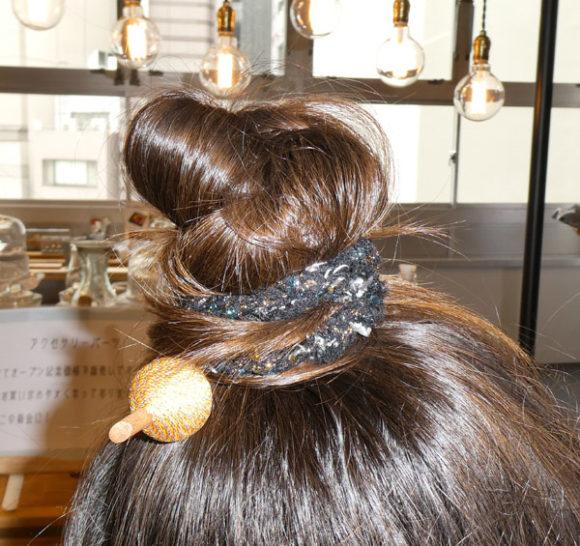 うんこミュージアム YOKOHAMAをテーマにして結った娘の髪