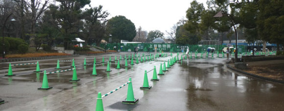 上野動物園・入場ゲート前に並ぶためのガイド