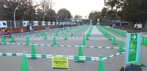 上野動物園・1年前のパンダのシャンシャンを見るために並んだであろう列のあと