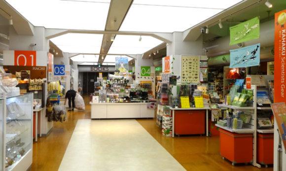 上野にある国立科学博物館のミュージアムショップ・入り口から見たところ