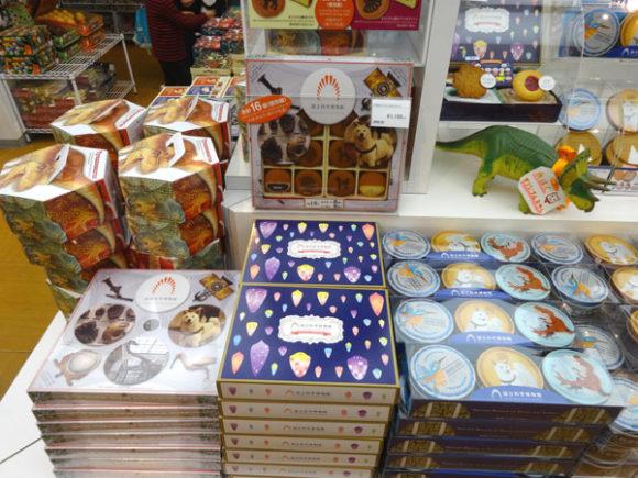 上野にある国立科学博物館のミュージアムショップ・お土産として配るお菓子もある
