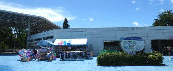 昭和記念公園のレインボープールの売店は更衣室を抜けたところに移動していました