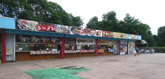 昭和記念公園のレインボープールの中の飲食店はタピオカが大流行していました